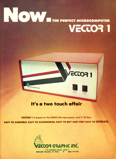 Vector Graphic Inc. Vector 1 computer system advertisement - 1977