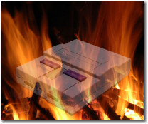 A Flaming Super Nintendo!